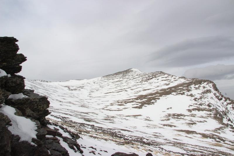 letztes Jahr-Alcazaba im Schnee -  Sturm auf dem Gipfel